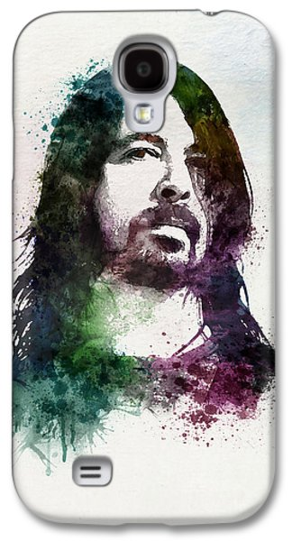 """""""square """" Mixed Media Galaxy S4 Cases - Dave Grohl watercolor Galaxy S4 Case by Marian Voicu"""