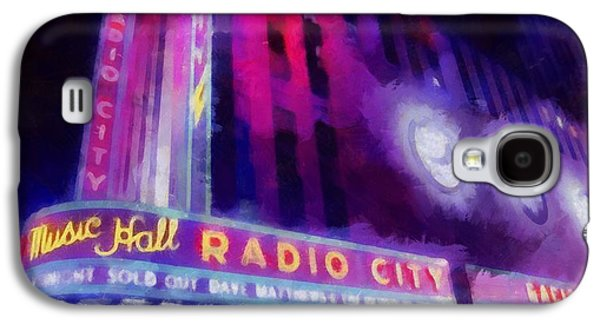 The Dave Matthews Band Paintings Galaxy S4 Cases - Dave Matthews At Radio City Music Hall Galaxy S4 Case by Dan Sproul