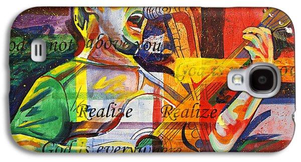 The Dave Matthews Band Paintings Galaxy S4 Cases - Dave Matthews-Bartender Galaxy S4 Case by Joshua Morton