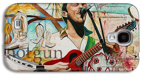 The Dave Matthews Band Paintings Galaxy S4 Cases - Dave Matthews Shotgun Galaxy S4 Case by Joshua Morton