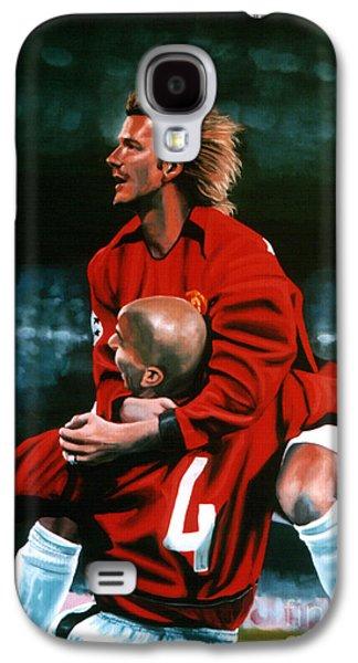David Beckham And Juan Sebastian Veron Galaxy S4 Case by Paul Meijering