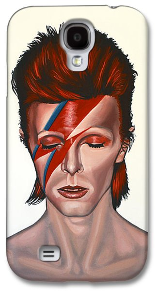 Idol Galaxy S4 Cases - David Bowie Aladdin Sane Galaxy S4 Case by Paul  Meijering