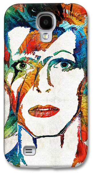 Icons Prints Paintings Galaxy S4 Cases - David Bowie Art Tribute by Sharon Cummings Galaxy S4 Case by Sharon Cummings