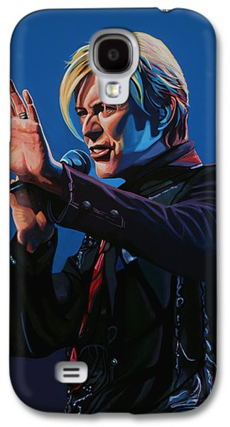 David Bowie Painting Galaxy S4 Case by Paul Meijering