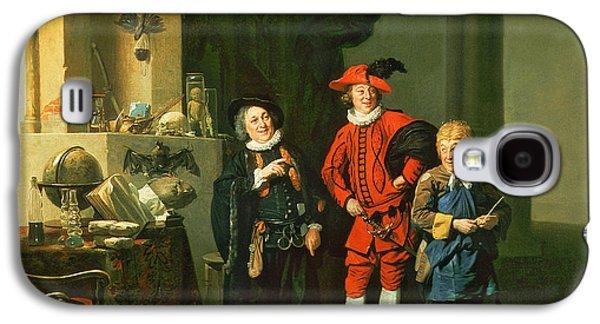 Doctor Photographs Galaxy S4 Cases - David Garrick With William Burton And John Palmer In The Alchemist By Ben Jonson, 1770 Galaxy S4 Case by Johann Zoffany