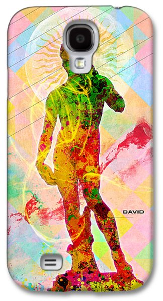 Colorful Abstract Galaxy S4 Cases - David Galaxy S4 Case by Gary Grayson