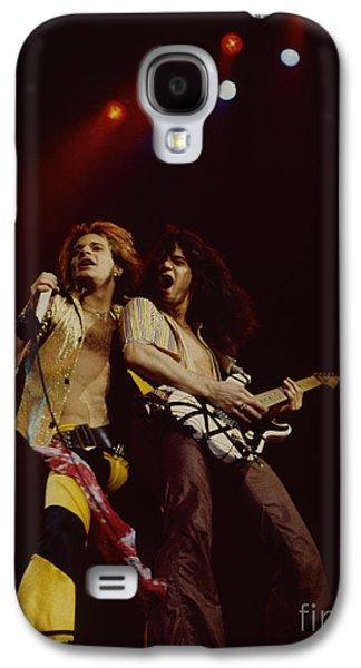 Van Halen Galaxy S4 Cases - David Lee Roth and Eddie Van Halen - Van Halen- Oakland Coliseum 12-2-78   Galaxy S4 Case by Daniel Larsen