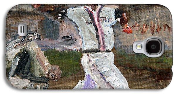 Boston Red Sox Paintings Galaxy S4 Cases - David Ortiz David Ortiz David Ortiz Galaxy S4 Case by Michael Helfen