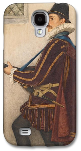 Lute Paintings Galaxy S4 Cases - David Rizzio Galaxy S4 Case by Sir James Dromgole Linton