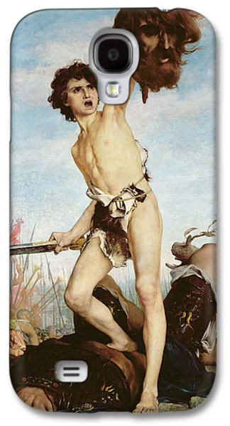 Standing Paintings Galaxy S4 Cases - David Victorious Over Goliath Galaxy S4 Case by Gabriel Joseph Marie Augustin Ferrier
