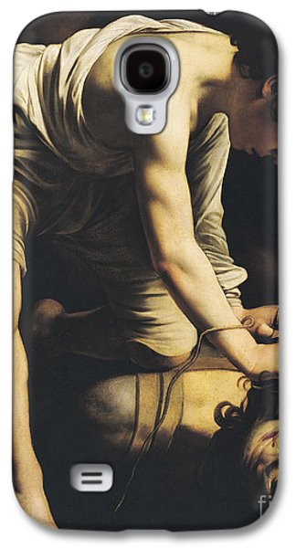 Caravaggio Galaxy S4 Cases - David Victorious over Goliath Galaxy S4 Case by Michelangelo Merisi da Caravaggio