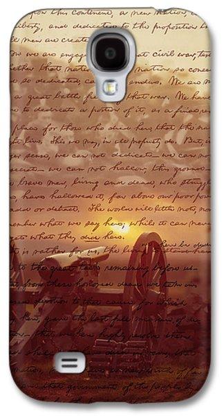 Photography Digital Art Galaxy S4 Cases - Dawn At Gettysburg Galaxy S4 Case by Gary Grayson