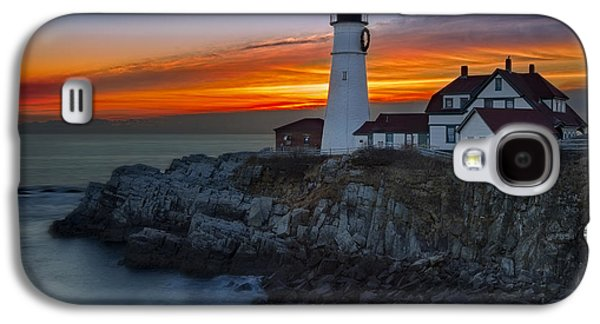 Susan Candelario Galaxy S4 Cases - Dawn At Portalnd Head Light Galaxy S4 Case by Susan Candelario