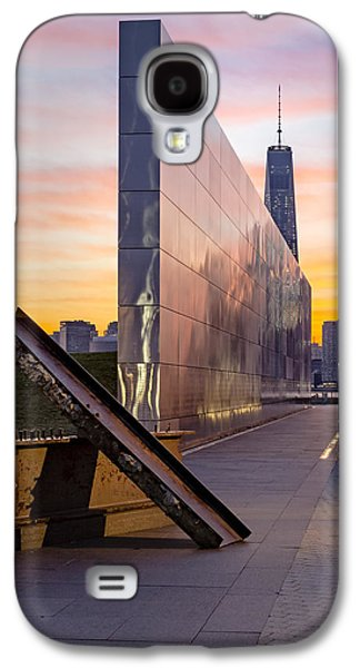 Wtc 11 Galaxy S4 Cases - Dawn At The Empty Sky Memorial Galaxy S4 Case by Susan Candelario