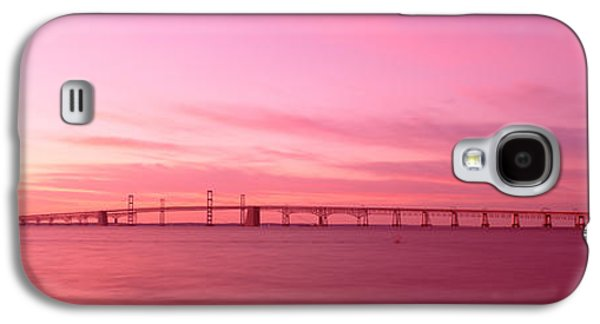Bay Bridge Galaxy S4 Cases - Dawn, Chesapeake Bay Bridge, Maryland Galaxy S4 Case by Panoramic Images