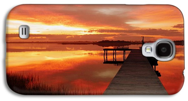 Wetlands Galaxy S4 Cases - DAWN of NEW YEAR Galaxy S4 Case by Karen Wiles