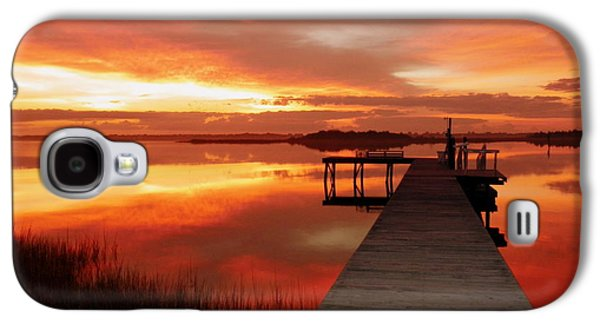 Carolina Galaxy S4 Cases - DAWN of NEW YEAR Galaxy S4 Case by Karen Wiles