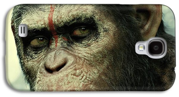Ape Digital Art Galaxy S4 Cases - Dawn of the Planet of the Apes  Galaxy S4 Case by Movie Poster Prints