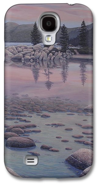 Waterscape Paintings Galaxy S4 Cases - Dawns Stillness Galaxy S4 Case by James English Babcock