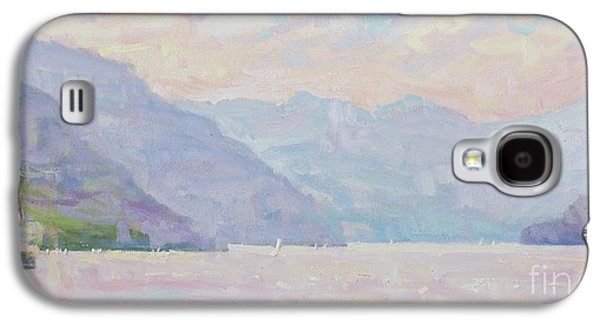 Lake Como Paintings Galaxy S4 Cases - Day After Day Galaxy S4 Case by Jerry Fresia