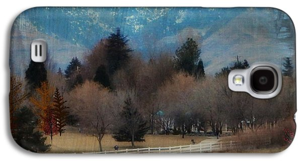 Matting Galaxy S4 Cases - Day at the Park Painting Digitally Galaxy S4 Case by Bobbee Rickard
