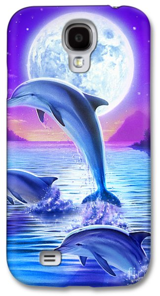 Dolphin Galaxy S4 Cases - Day of the Dolphin Galaxy S4 Case by Robin Koni