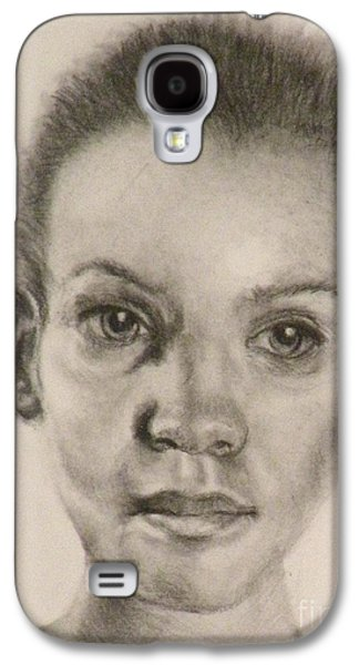 African-american Drawings Galaxy S4 Cases - Daydreams Drawing Galaxy S4 Case by Susan A Becker