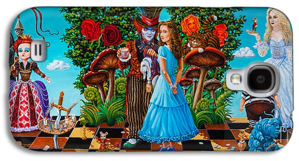 Mad Hatter Paintings Galaxy S4 Cases - Daze of Alice Galaxy S4 Case by Igor Postash