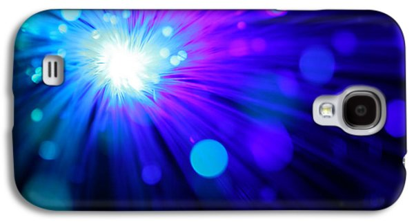 Abstract Digital Photographs Galaxy S4 Cases - Dazzling Blue Galaxy S4 Case by Dazzle Zazz