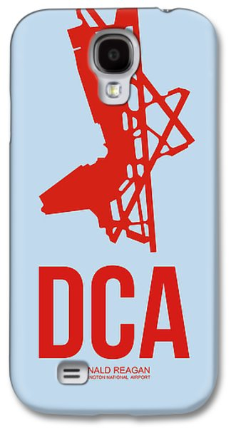 Dca Washington Airport Poster 2 Galaxy S4 Case by Naxart Studio