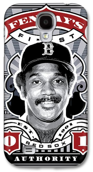 Espn Galaxy S4 Cases - DCLA Jim Rice Fenways Finest Stamp Art Galaxy S4 Case by David Cook Los Angeles