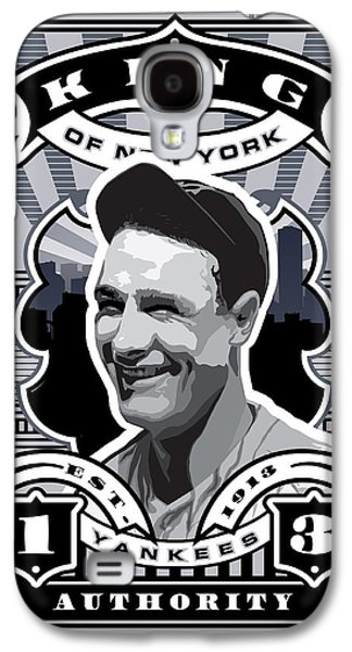 Dcla Lou Gehrig Kings Of New York Stamp Artwork Galaxy S4 Case by David Cook Los Angeles