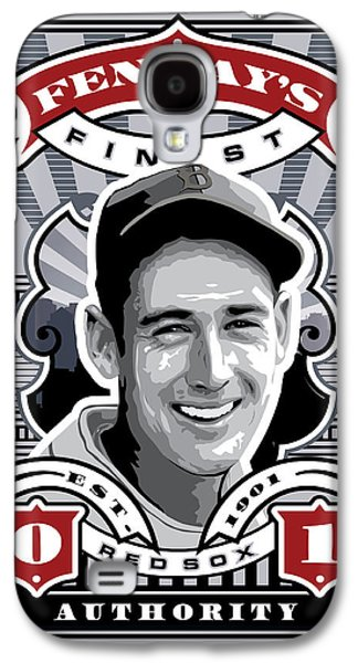 Espn Galaxy S4 Cases - DCLA Ted Williams Fenways Finest Stamp Art Galaxy S4 Case by David Cook Los Angeles