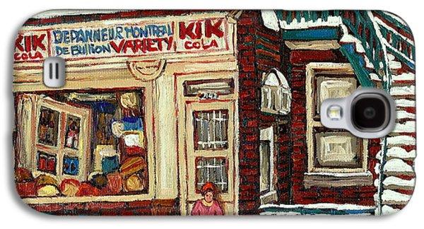 Montreal Memories. Galaxy S4 Cases - De Bullion Street Depanneur Kik Cola Montreal Streetscenes Galaxy S4 Case by Carole Spandau