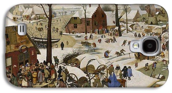 Paint Photograph Galaxy S4 Cases - De volkstelling in Betlehem Galaxy S4 Case by Pieter Brueghel de Jonge