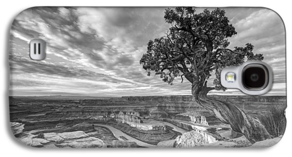 Southern Utah Galaxy S4 Cases - Dead Horse Point Sunrise in Black and White Galaxy S4 Case by Dustin  LeFevre