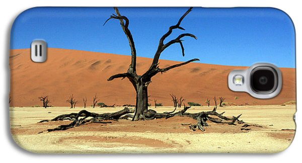 African Heritage Galaxy S4 Cases - Dead Vlei Tree - Namibia Galaxy S4 Case by Aidan Moran