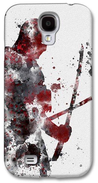 Watercolour Art Galaxy S4 Cases - Deadpool Galaxy S4 Case by Rebecca Jenkins
