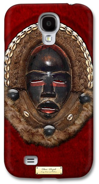 African Heritage Galaxy S4 Cases - Dean Gle Mask by Dan People of the Ivory Coast and Liberia on Red Velvet Galaxy S4 Case by Serge Averbukh