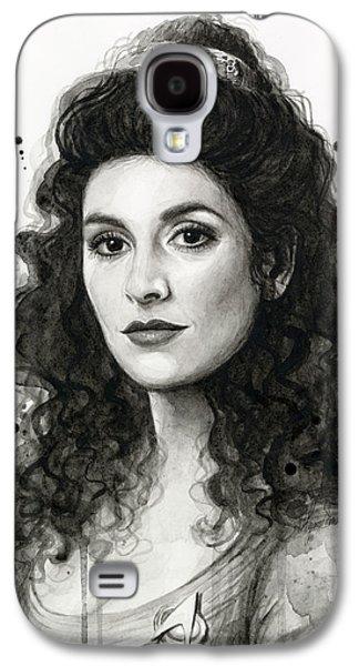 Science Fiction Paintings Galaxy S4 Cases - Deanna Troi - Star Trek Fan Art Galaxy S4 Case by Olga Shvartsur