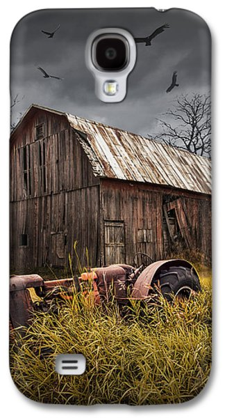 Machinery Galaxy S4 Cases - Death of a Small Midwest Farm Galaxy S4 Case by Randall Nyhof