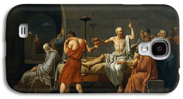Patriotism Paintings Galaxy S4 Cases - Death of Socrates Galaxy S4 Case by Jacques Louis David