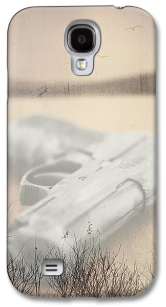Creepy Galaxy S4 Cases - Death On Solid Water Galaxy S4 Case by Edward Fielding