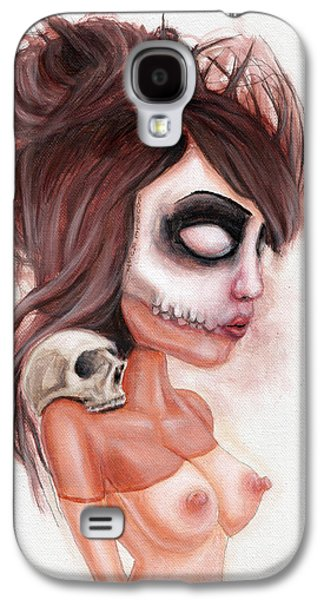 Recently Sold -  - Creepy Galaxy S4 Cases - Deathlike Skull Impression Galaxy S4 Case by Rouble Rust