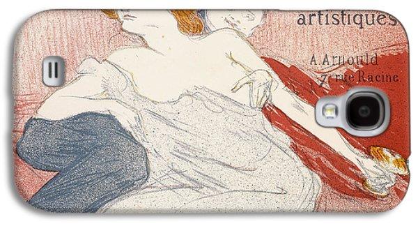 Red Wine Prints Galaxy S4 Cases - Debauche Deuxieme Planche Galaxy S4 Case by Henri de Toulouse-Lautrec