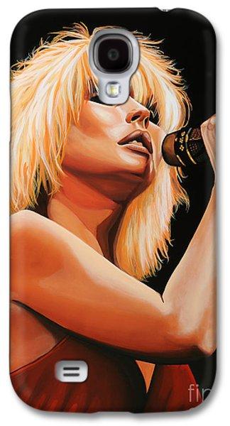 Stage Paintings Galaxy S4 Cases - Deborah Harry or Blondie 2 Galaxy S4 Case by Paul  Meijering