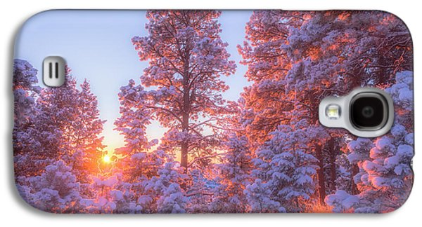 Landscape Acrylic Prints Galaxy S4 Cases - December Sunrise Galaxy S4 Case by Darren  White
