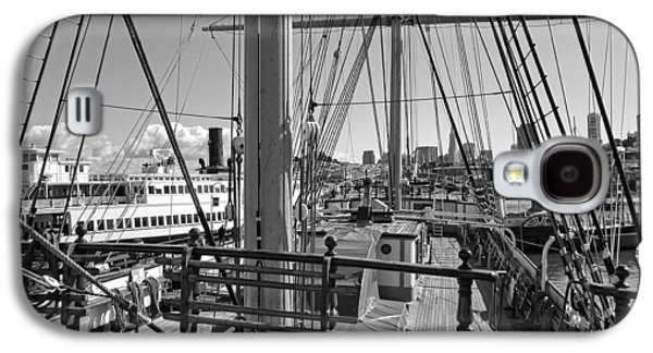 Aft Galaxy S4 Cases - DECK of BALCLUTHA 3 MASTED SCHOONER - SAN FRANCISCO Galaxy S4 Case by Daniel Hagerman