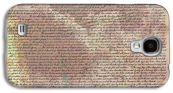 4th July Galaxy S4 Cases - Declaration of Independence Galaxy S4 Case by Stephen Stookey