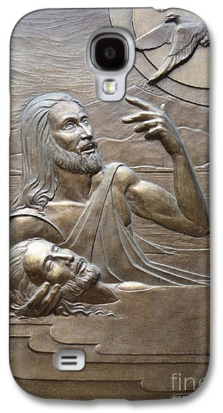 Relief Sculpture Reliefs Galaxy S4 Cases - Deco Baptism Galaxy S4 Case by Jeremiah Welsh
